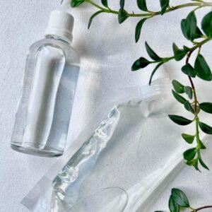 Agua activada para limpiar el rostro