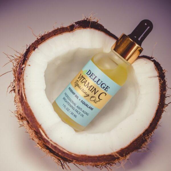 Aceite de vitamina C para el cuidado de la piel