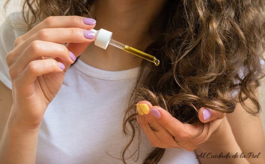 Cuidado del cabello con aceite de cannabis