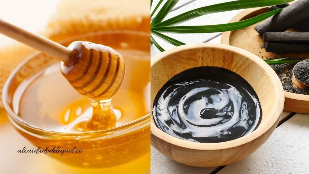 Mascarilla de miel y carbón activado