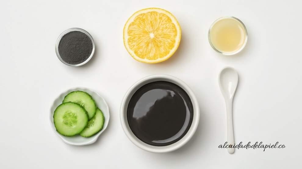 Productos al cuidado de la piel con acné