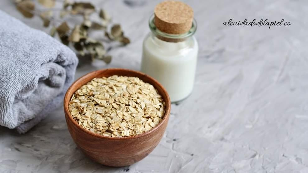 exfoliantes naturales de leche y avena para la cara