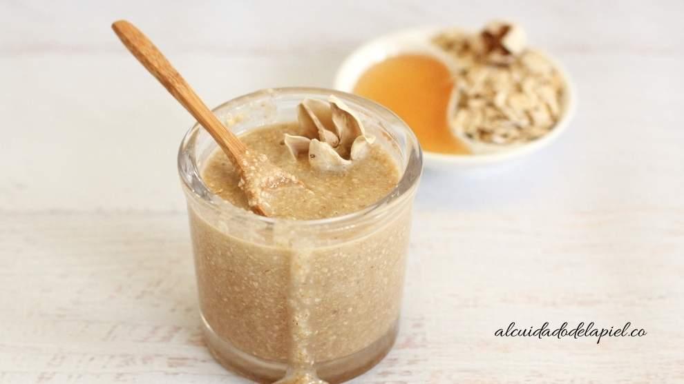 exfoliantes naturales de linaza y miel para la cara