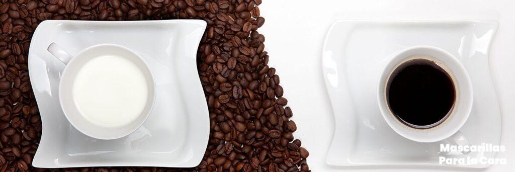 Mascarilla de café con leche para el acné