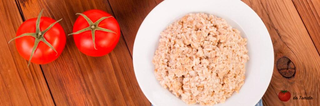 Mascarilla de tomate y avena